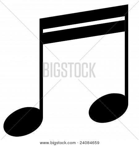 Sixteenth note ldjqyfz on a white background