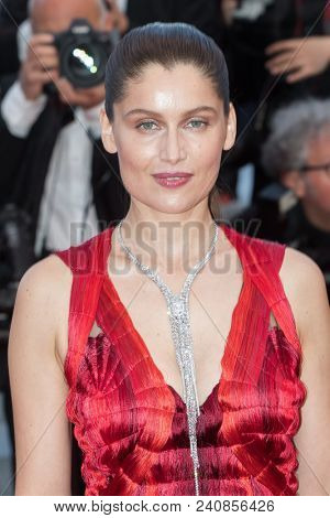 CANNES, FRANCE - MAY 13:  Laetitia Casta attends the screening of 'Sink Or Swim (Le Grand Bain)' during the 71st annual Cannes Film Festival at Palais des Festivals on May 13, 2018 in Cannes, France.
