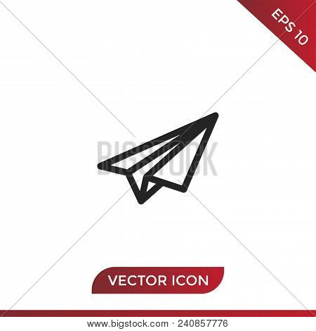 Paper Plane Vector Icon Flat Style Illustration For Web, Mobile, Logo, Application And Graphic Desig