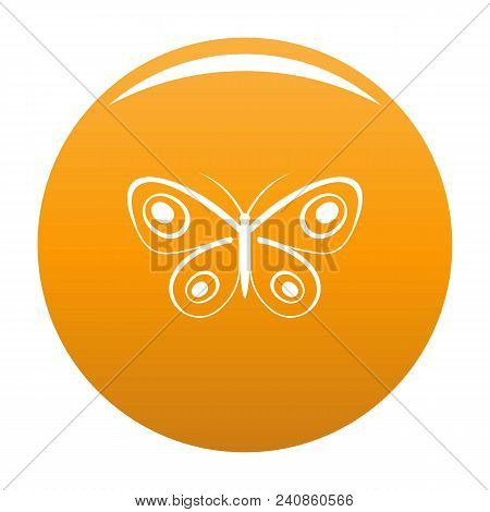 Tiny Butterfly Icon. Simple Illustration Of Tiny Butterfly Vector Icon For Any Design Orange
