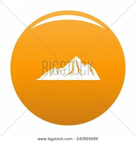 Tall Mountain Icon. Simple Illustration Of Tall Mountain Vector Icon For Any Design Orange