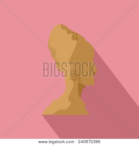 Head Of Statue Icon. Flat Illustration Of Head Of Statue Vector Icon For Web Design