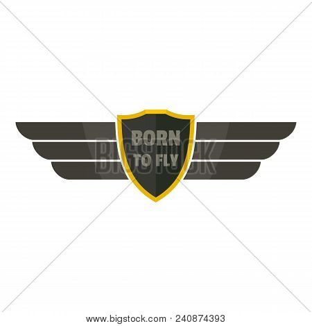 Born To Fly Icon Logo. Flat Illustration Of Born To Fly Vector Icon Logo For Web Design Isolated On