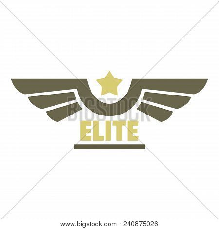 Elite Air Force Icon Logo. Flat Illustration Of Elite Air Force Vector Icon Logo For Web Design Isol