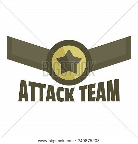 Attack Team Icon Logo. Flat Illustration Of Attack Team Vector Icon Logo For Web Design Isolated On