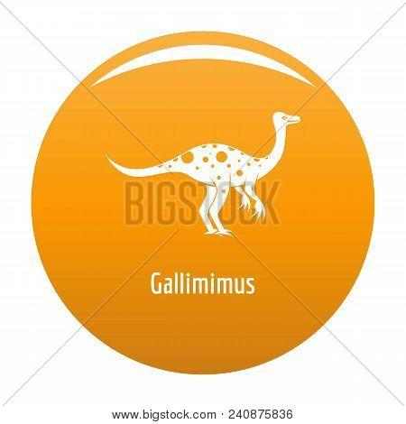 Gallimimus Icon. Simple Illustration Of Gallimimus Vector Icon For Any Design Orange