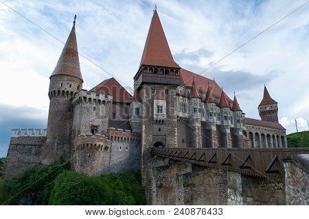 Corvin Castle Or Hunyadi Castle In Hunedoara, Romania