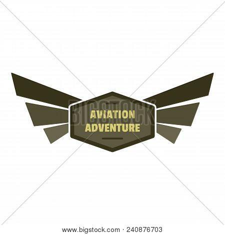 Aviation Adventure Icon Logo. Flat Illustration Of Aviation Adventure Vector Icon Logo For Web Desig