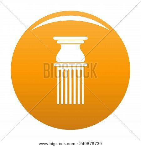 Classical Column Icon. Simple Illustration Of Classical Column Vector Icon For Any Design Orange
