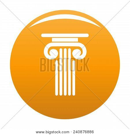 Outer Column Icon. Simple Illustration Of Outer Column Vector Icon For Any Design Orange
