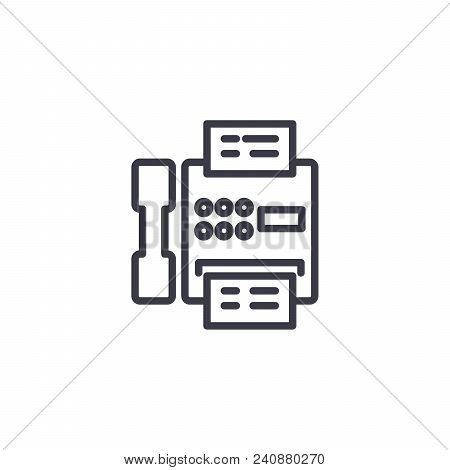 Pay Telephone Line Icon, Vector Illustration. Pay Telephone Linear Concept Sign.