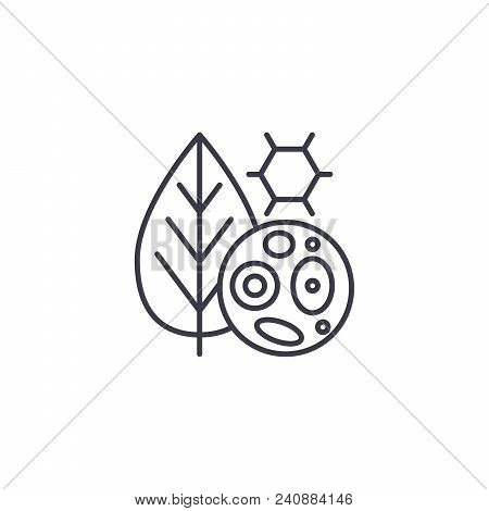 Plant Cells Line Icon, Vector Illustration. Plant Cells Linear Concept Sign.