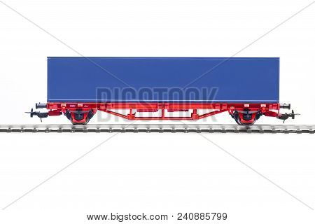 Scale Model Of Container Wagon