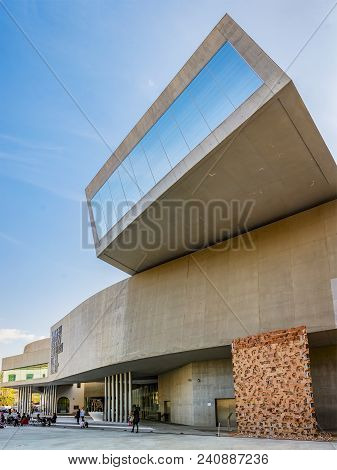 Rome, Italy, April 7, 2017: Detail Of The Maxxi National Museum Of Contemporary Art And Architecture
