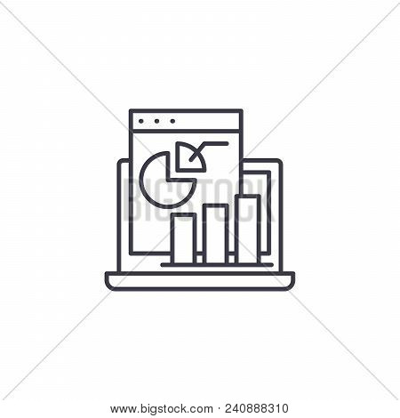 Profit And Loss Statement Line Icon, Vector Illustration. Profit And Loss Statement Linear Concept S