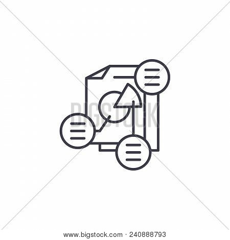 Project Consolidation Line Icon, Vector Illustration. Project Consolidation Linear Concept Sign.