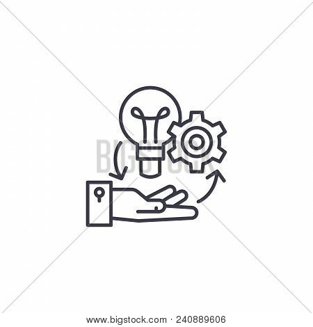 Project Management Line Icon, Vector Illustration. Project Management Linear Concept Sign.