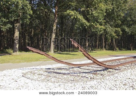 Monument In Former Concentration Camp In The Netherlands
