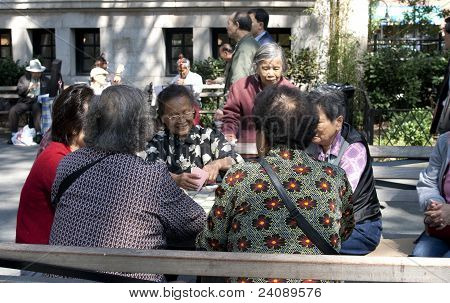 Chinese Women Playing Cards
