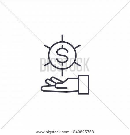 Request For The Funds Line Icon, Vector Illustration. Request For The Funds Linear Concept Sign.