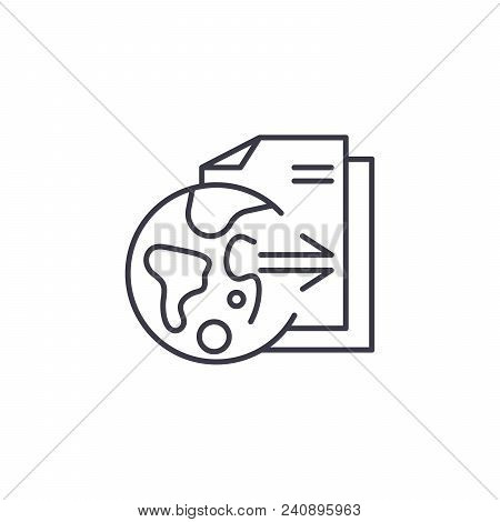 Research Outcomes Line Icon, Vector Illustration. Research Outcomes Linear Concept Sign.