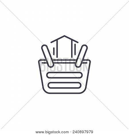 Sales Increase Line Icon, Vector Illustration. Sales Increase Linear Concept Sign.