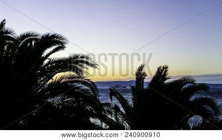 Sunset Over Adriatic Sea In Podgora, Makarska Riviera, Dalmatia, Croatia