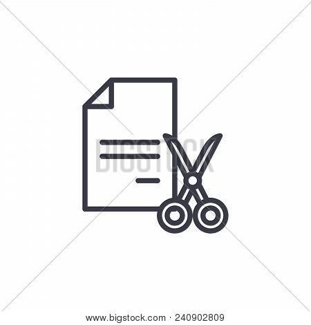Shredding Documents Line Icon, Vector Illustration. Shredding Documents Linear Concept Sign.