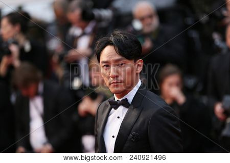 Chang Chen attends the screening of 'Burning' during the 71st  Cannes Film Festival at Palais des Festivals on May 16, 2018 in Cannes, France.