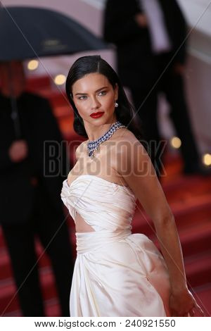 Adriana Lima attends the screening of 'Burning' during the 71st  Cannes Film Festival at Palais des Festivals on May 16, 2018 in Cannes, France.
