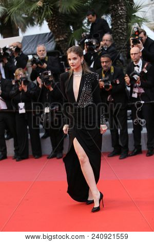 Model Barbara Palvin attends the screening of 'Burning' during the 71st annual Cannes Film Festival at Palais des Festivals on May 16, 2018 in Cannes, France.