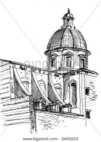Sketch Of San Frediano Church