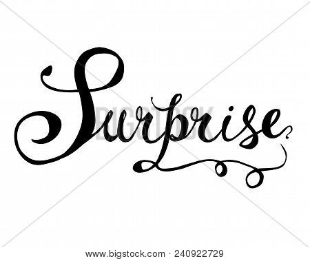 Surprise. Hand Written Doodle Word