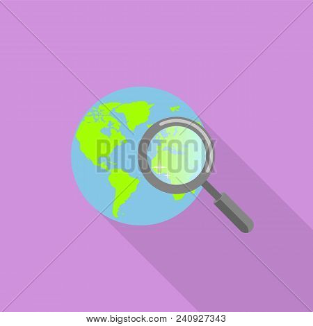 Global Find Icon. Flat Illustration Of Global Find Vector Icon For Web Design