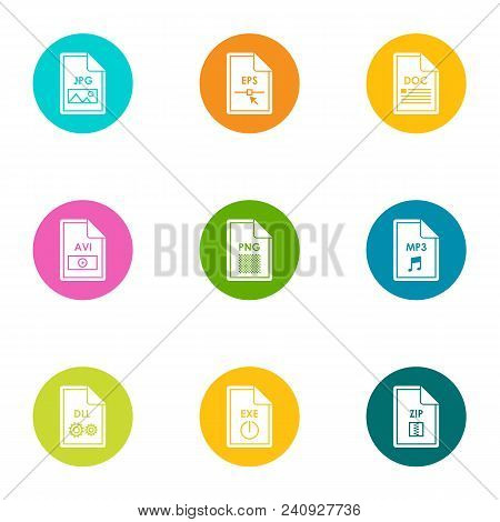 Extension Icons Set. Flat Set Of 9 Extension Vector Icons For Web Isolated On White Background