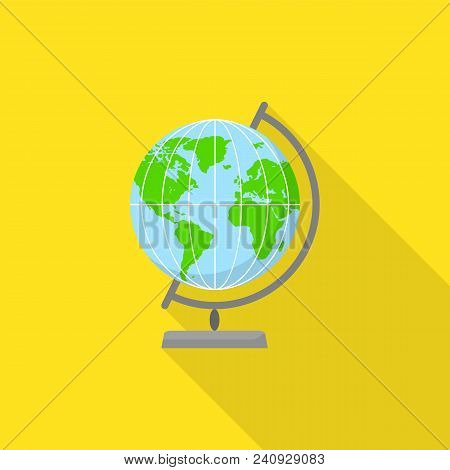 Geography Globe Icon. Flat Illustration Of Geography Globe Vector Icon For Web Design