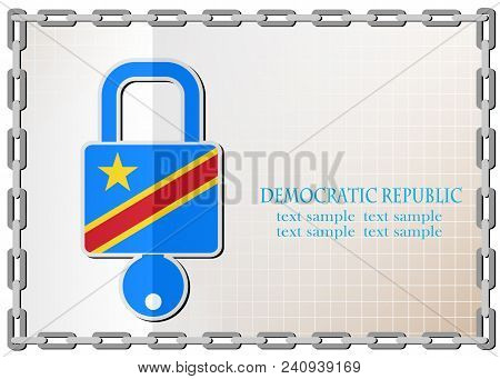 Lock Logo Made From The Flag Of Democratic Republic