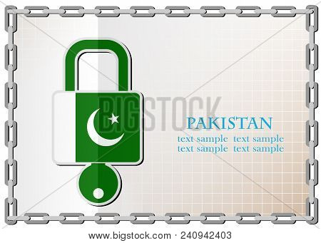 Lock Logo Made From The Flag Of Pakistan