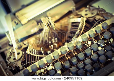 Vintage Typewriter Used For A Retro Decoration