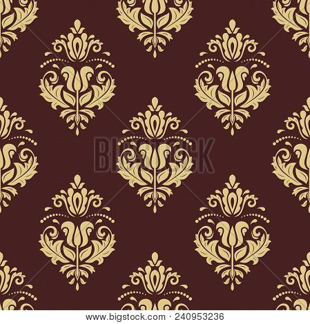 Classic Seamless Pattern. Traditional Orient Golden Ornament. Classic Vintage Background
