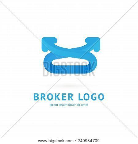 Illustration Design Of Logotype Bidding Business Symbol. Arrow Pictogram.