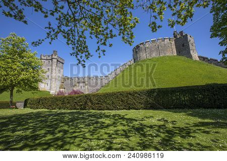 Arundel, Uk - May 5th 2018: A View Of Bevis Tower And The Keep At Arundel Castle In West Sussex, Uk,