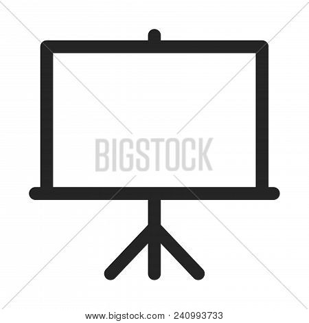 Projector Screen Icon Isolated On White Background. Projector Screen Icon Modern Symbol For Graphic
