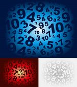Fading number illustration with different color variations poster