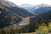 Independence Pass Highway 82 in the Colorado Rocky Mountains at the Continental Divide poster