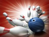 3d render of a bowling poster