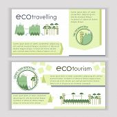 Set of ecotourism template banners. Vector illustration. poster