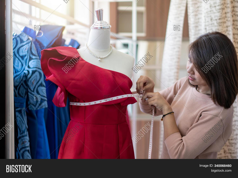 Asian Woman Dressmaker Image Photo Free Trial Bigstock