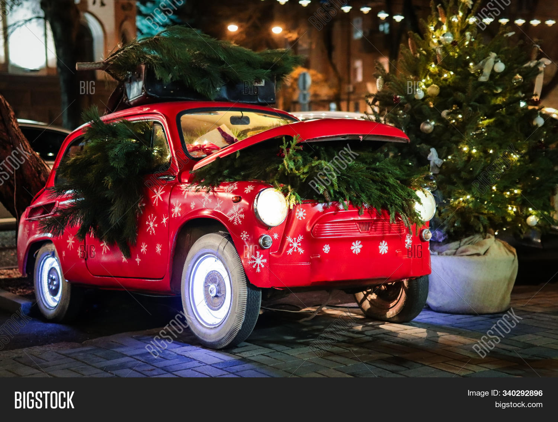 Red Retro Car Gift Image Photo Free Trial Bigstock