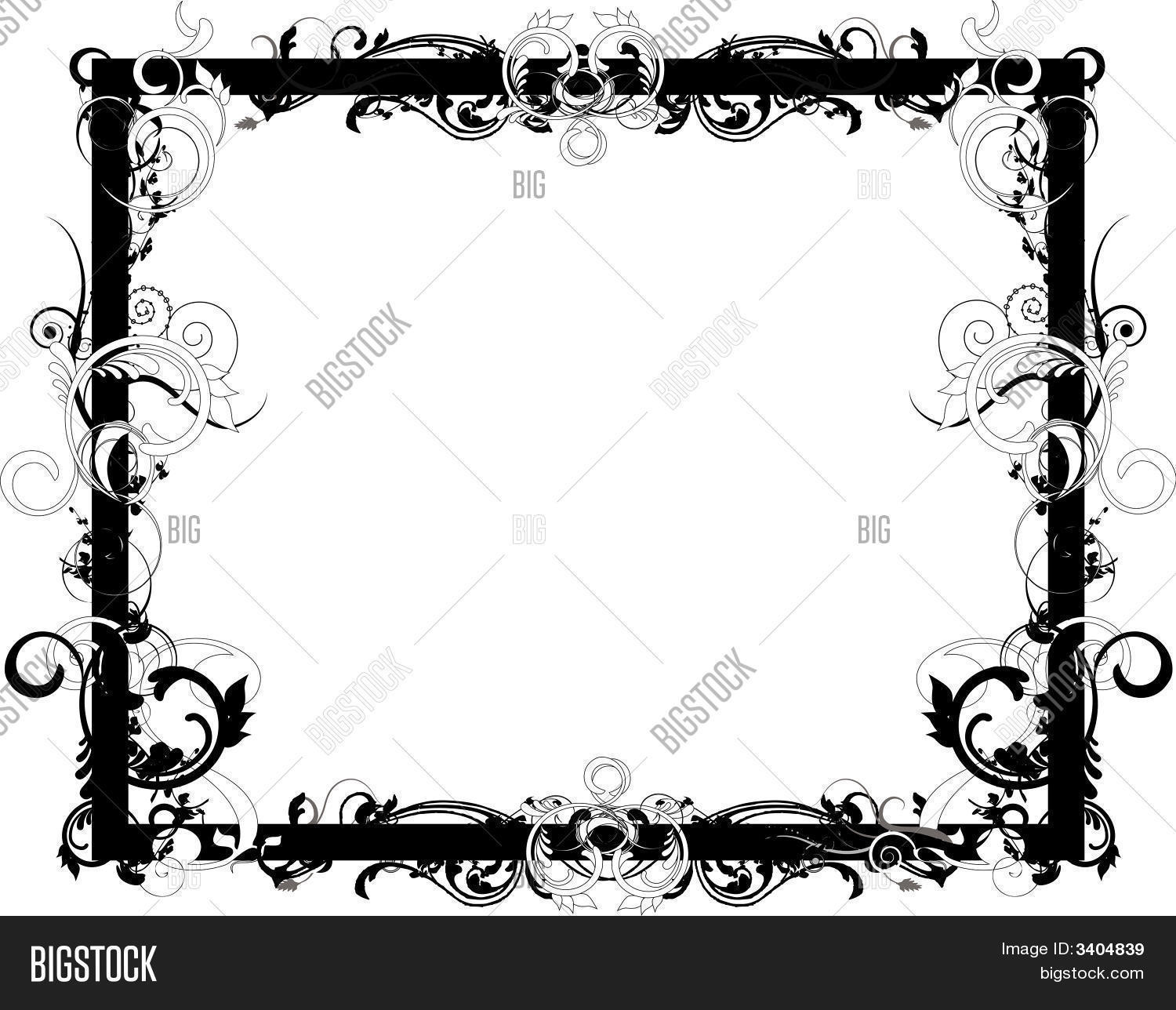 Flower Black White Vector & Photo (Free Trial) | Bigstock